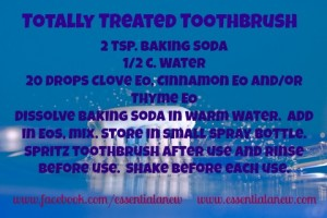 Totally Treated Toothbrush ~ Get your toothbrush totally clean with Essential Oils
