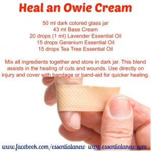 Heal an Owie Cream ~ Essential Anew