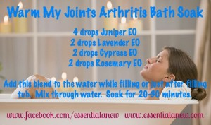 Warm My Joints Arthritis Bath Soak ~Essential Anew
