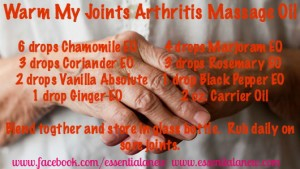 Warm My Joints Arthritis Massage Oil ~ Essential Anew
