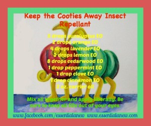 Keep the Cooties Away Insect Repellant ~ Essential Anew